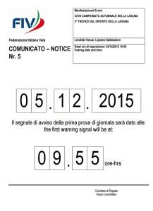 comunicato 5